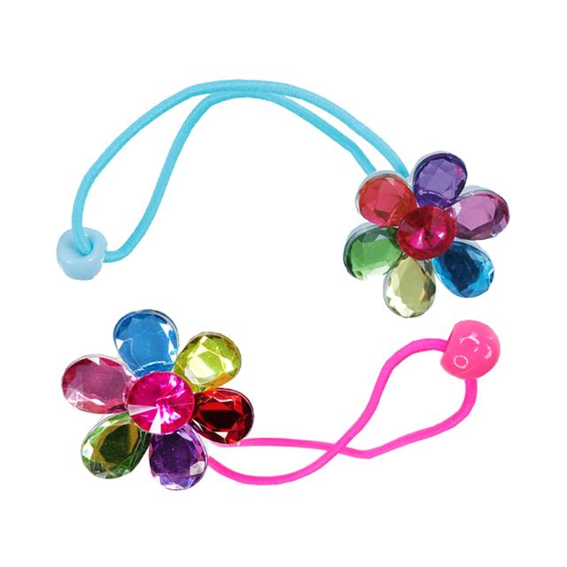 Great Pretenders Flower Gem Ponytail Holders