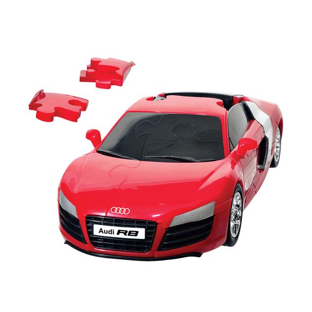 3D Puzzle 1:32 Audi R8 Solid Red