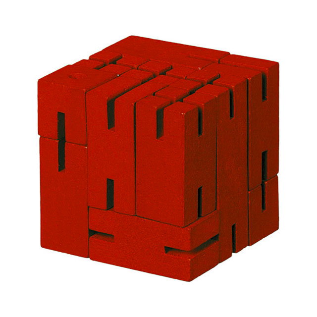 Flex Cube Wood Puzzle Red
