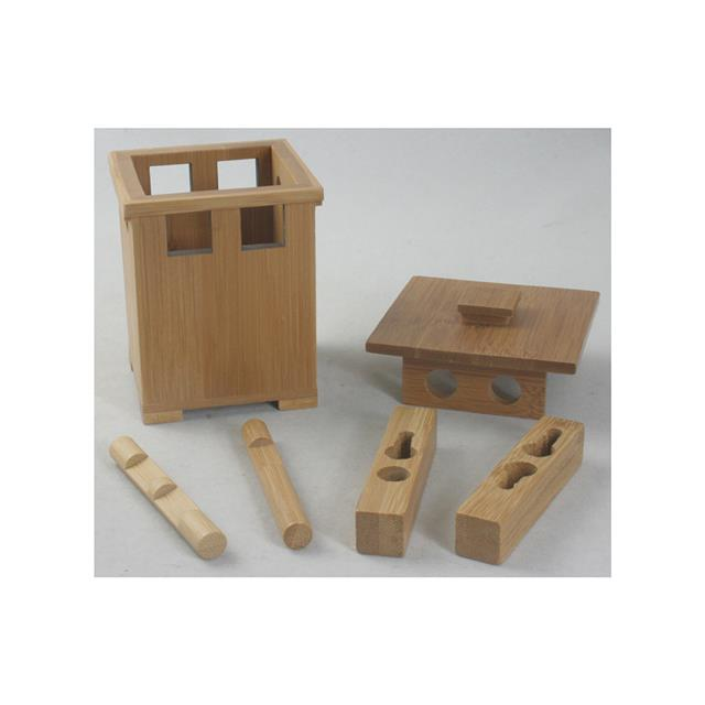 Bamboo Dilemma Jar 2 Square Posts Puzzle