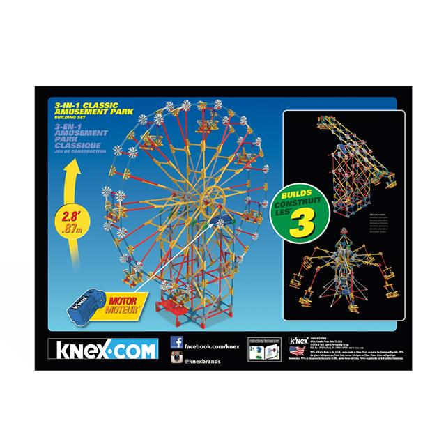 K'NEX® 3-in-1 Amusement Park Building Set