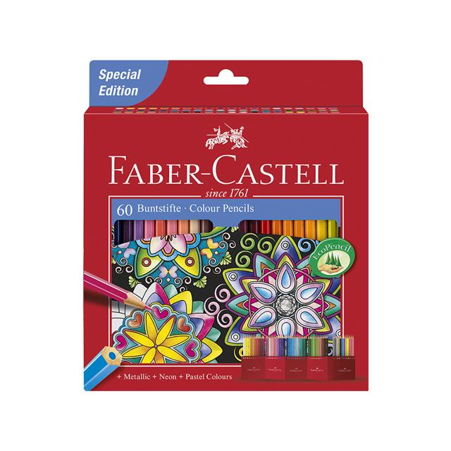 Faber-Castell Coloured Pencils 60 Pack