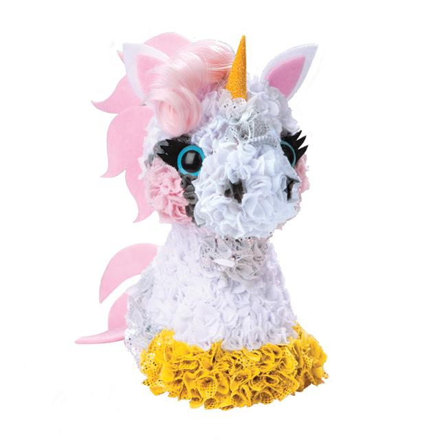 The Orb Factory PlushCraft 3D Unicorn