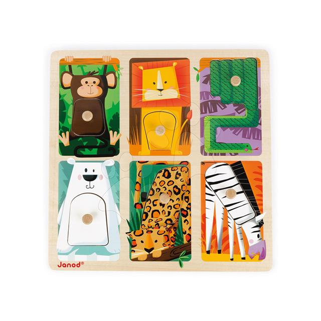 Janod Zoo Animal Tactile Puzzle