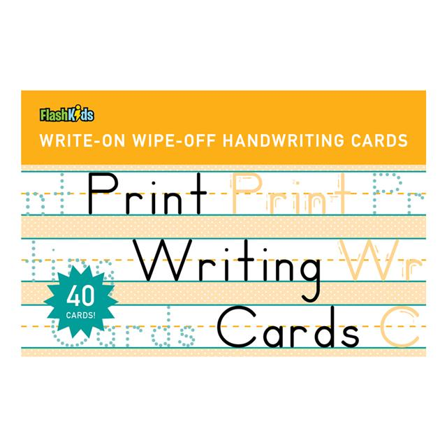 Print Write-On Wipe-Off Flash Cards
