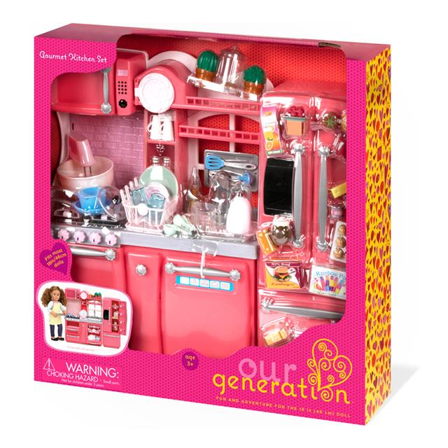 Our Generation Gourmet Kitchen Set Pink
