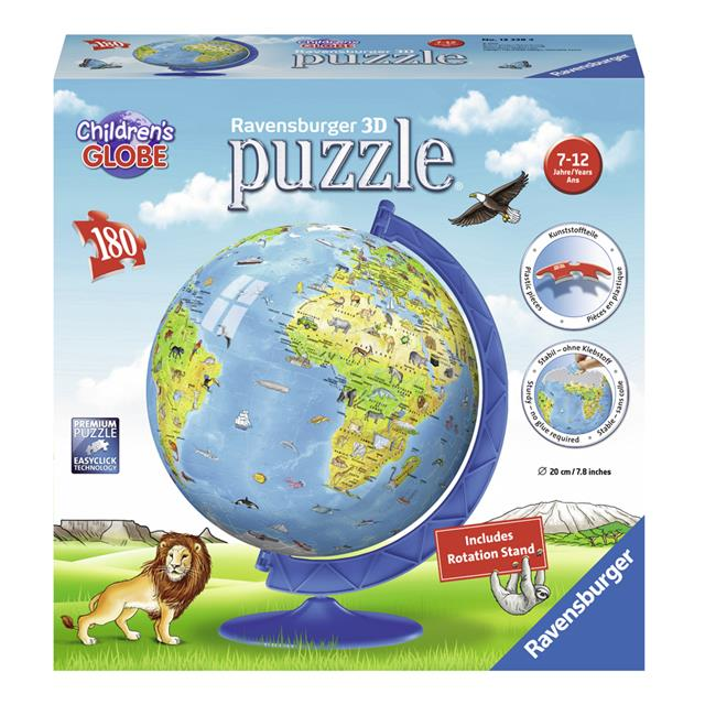 Ravensburger Children's World Globe 3D Puzzle