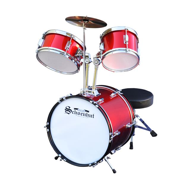 Schoenhut 5 Piece Drum Set - Red
