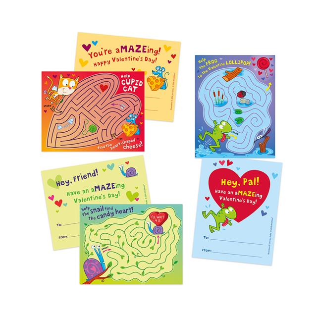 Peaceable Kingdom A-MAZE-ing Valentine Cards
