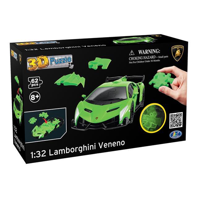 Green Lamborghini Veneno 3d Puzzle