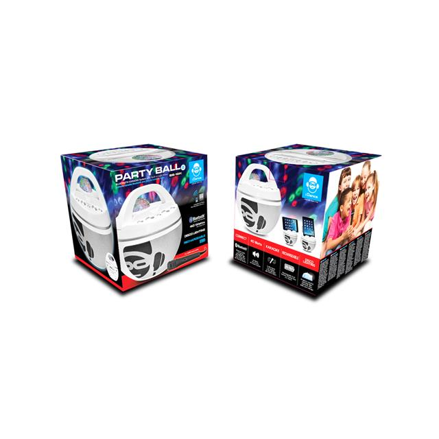 iDance Party Ball Karaoke Machine - White