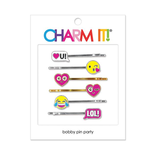 CHARM IT! Emoji Charm Bobby Pin Set