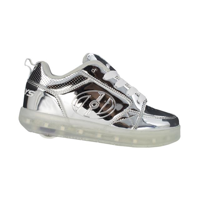 Heelys Premium Light Up Silver Chrome
