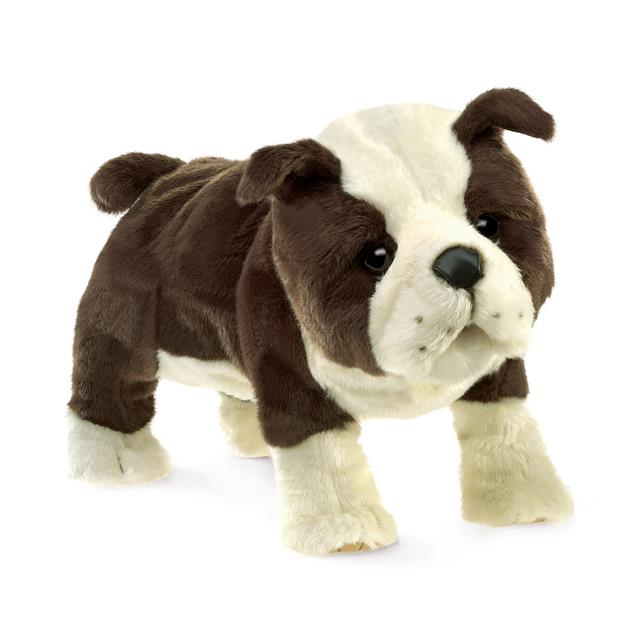 Folkmanis English Bulldog Puppy Puppet