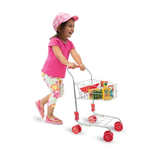 Shopping Cart with Red Seat and Handle