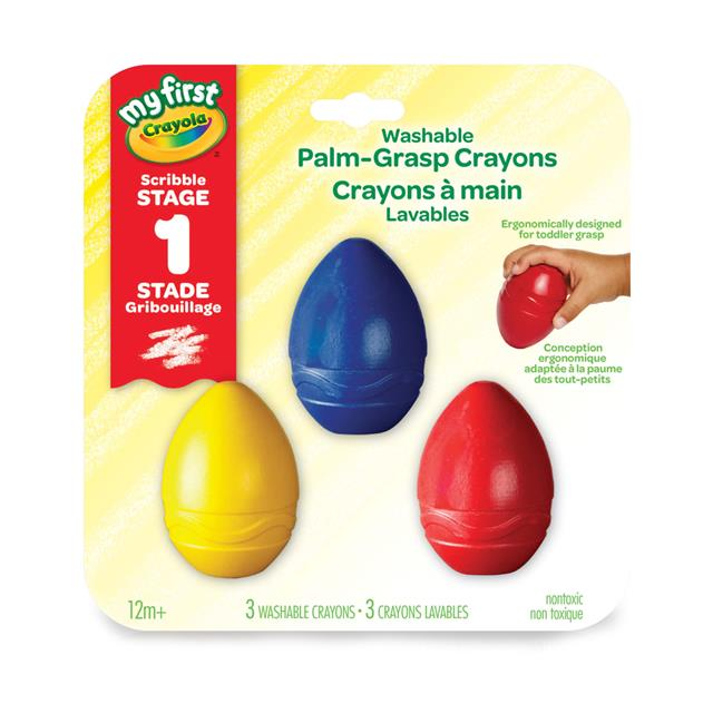 Crayola My First Washable Palm-Grasp Crayons