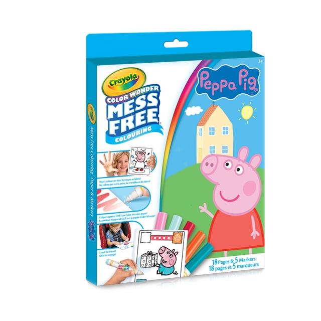 Crayola Colour Wonder Mess Free Colouring: Peppa Pig