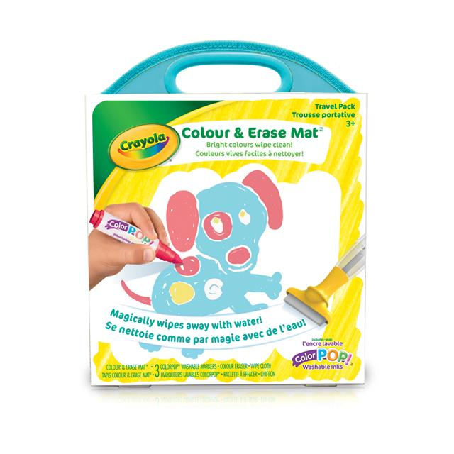 Crayola Colour & Erase Mat Travel Pack