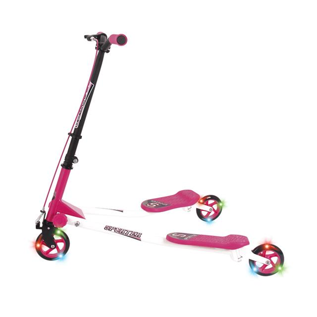 Sporter 125mm Scooter with Light Up Wheels - Pink