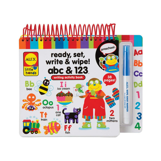 Alex Little Hands Ready, Set, Write, and Wipe! ABC and 123 Writing Activity Book