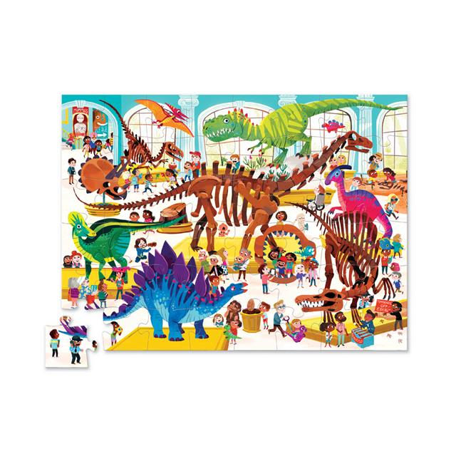 Crocodile Creek Day at the Museum Dinosaur 48pc Puzzle