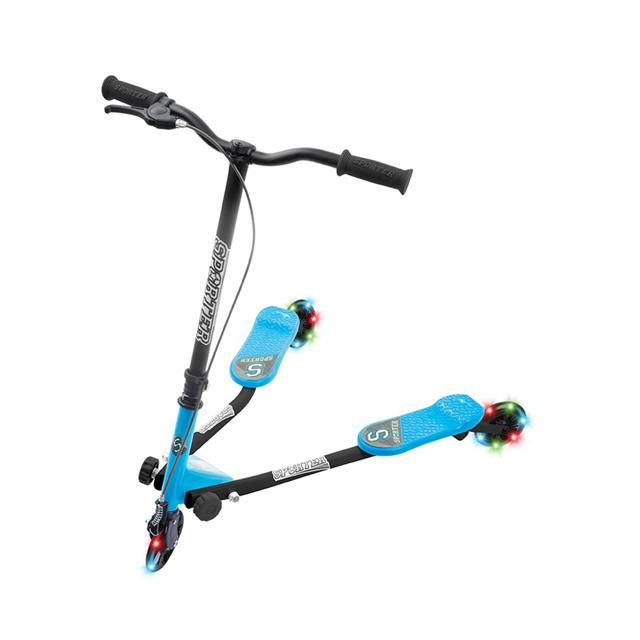 Sporter 125mm Scooter with Light Up Wheels - Blue
