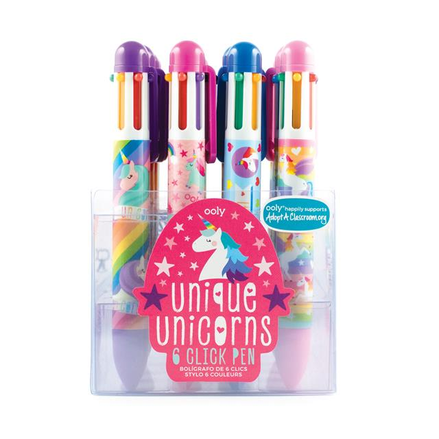 Unique Unicorns 6 Click Pen