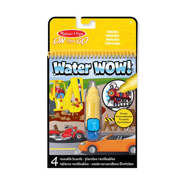 Melissa & Doug Water WOW! Vehicles On the Go Travel Activity Book