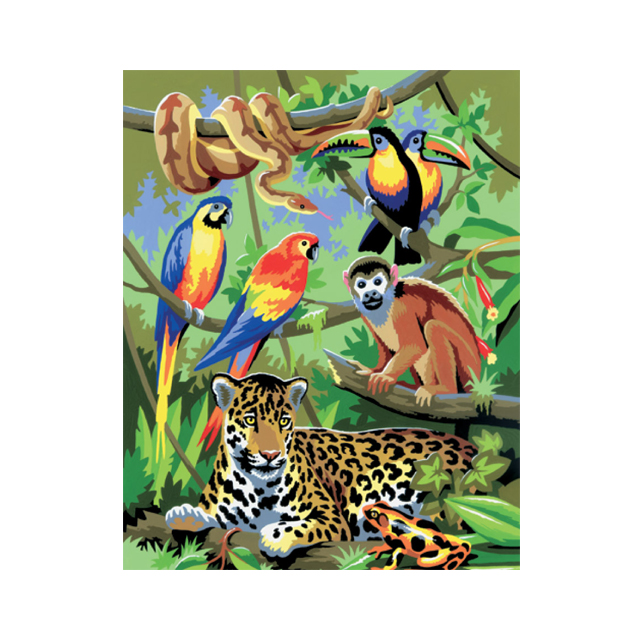 Painting by Numbers Jungle Scene