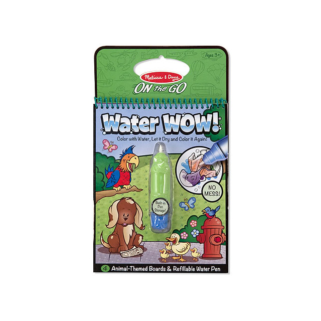 Melissa & Doug Water WOW! Animals On the Go Travel Activity Book