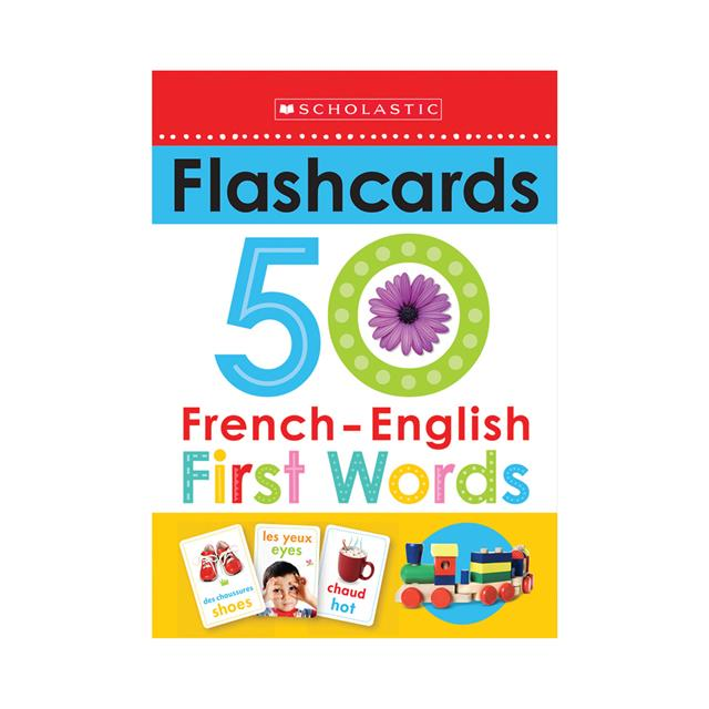 Scholastic Early Learners: Flashcards 50 French-English