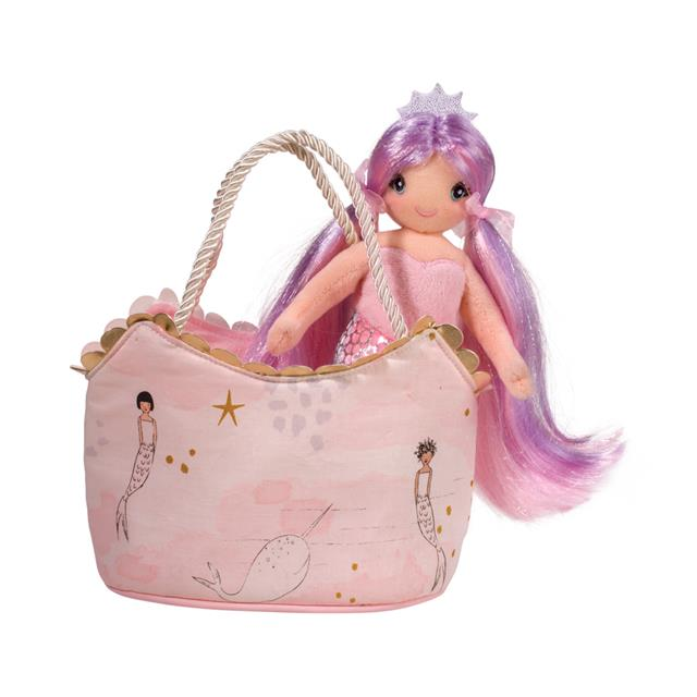 Douglas Pink Princess Mermaid Sak with Mermaid