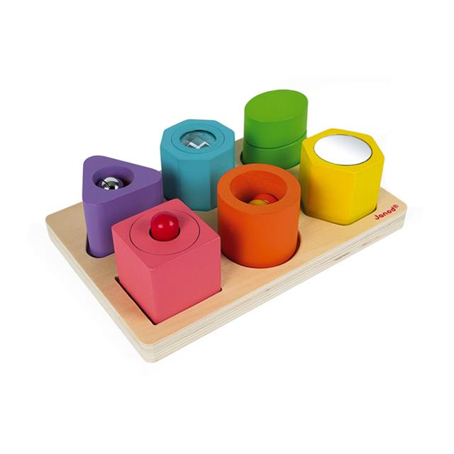 Janod Shapes & Sounds 6-Block Puzzle