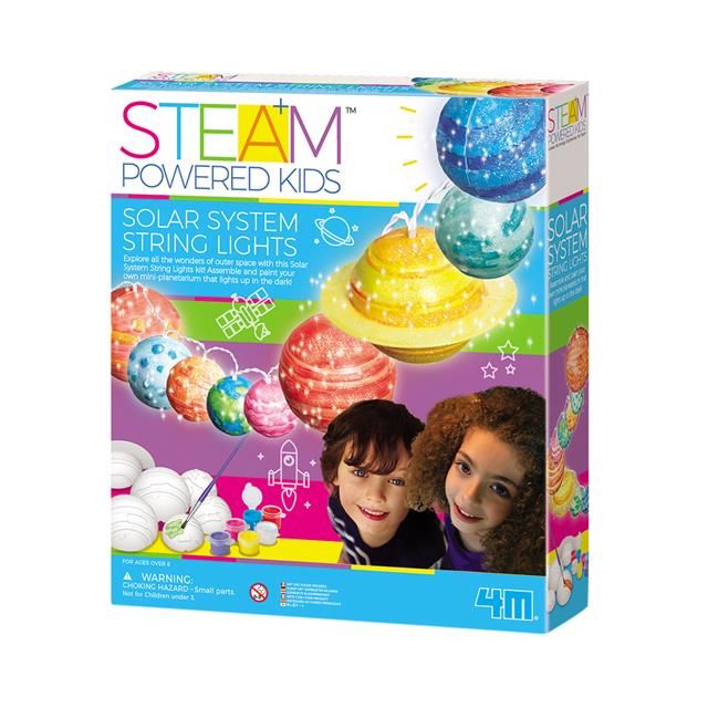 4M STEAM Powered Kids Solar System String Lights