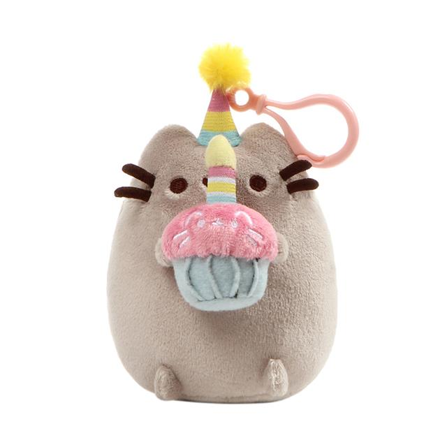 GUND Pusheen Birthday Cupcake Clip