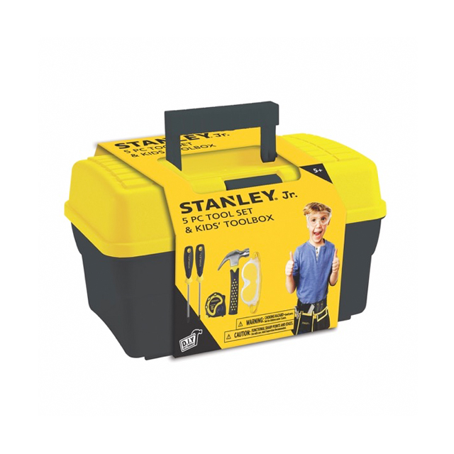 STANLEY® Jr. 5 Piece Tool Set & Kids' Toolbox