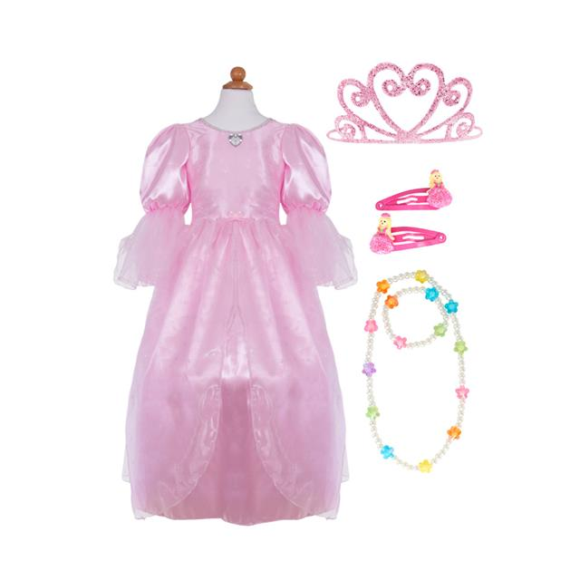 Great Pretenders Pink Princess Dress with Tiara and Accessories