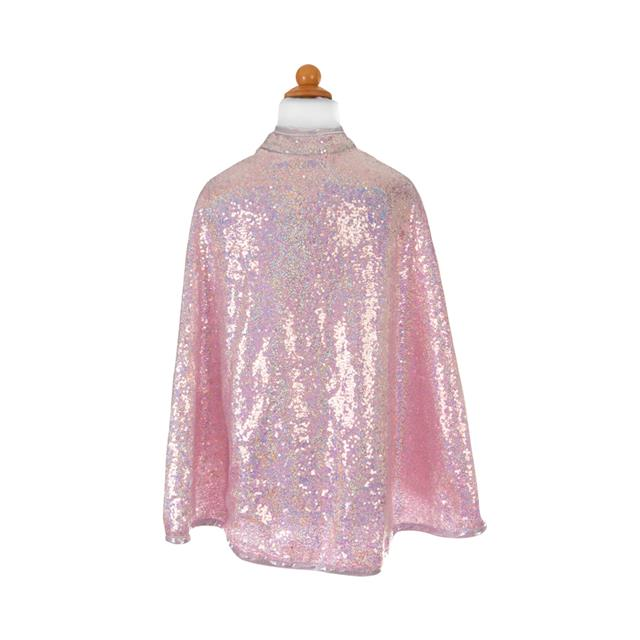 Great Pretenders Silver Sequin Reversible Cape