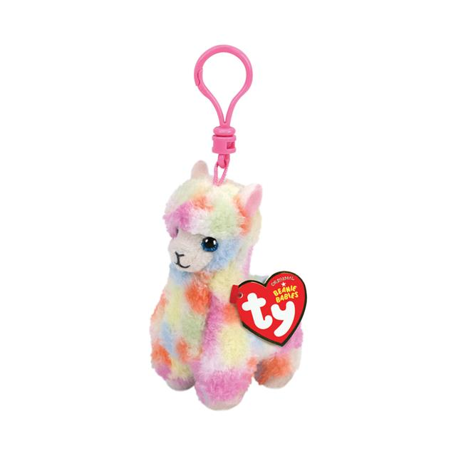 Ty Beanie Babies Clip-On Lola the Rainbow Llama