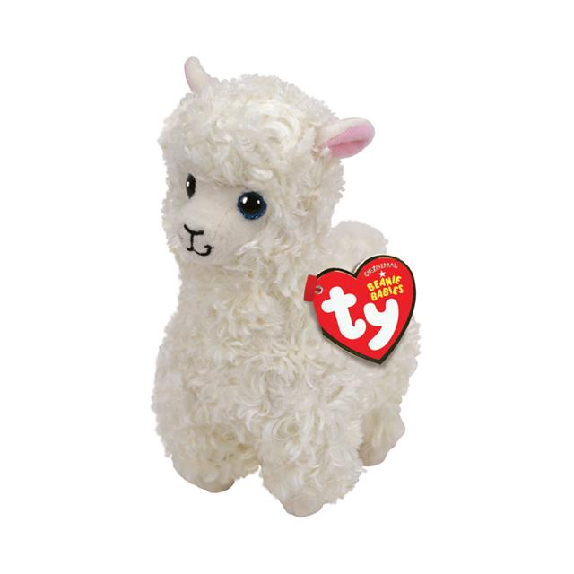 Ty Beanie Babies Medium Lily the White Llama