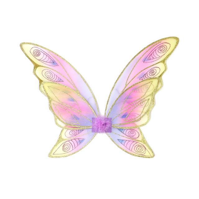 Glitter Rainbow Wings - Multi Pastel & Gold
