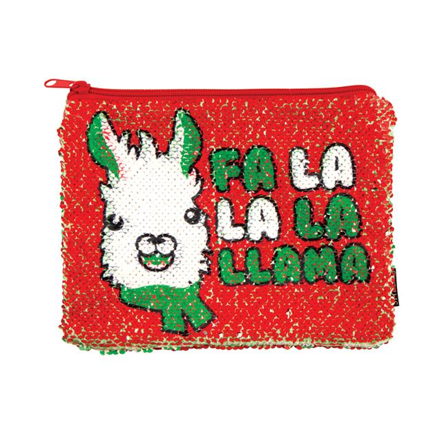 Fashion Angels Magic Sequin Reveal Pouch Fa La La La Llama