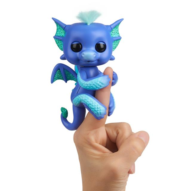 Fingerlings Luna the Blue & Teal Baby Dragon