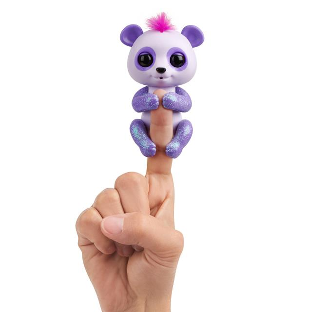 Fingerlings Beanie the Purple Glitter Baby Panda