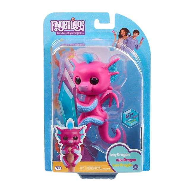 Fingerlings Sandy the Pink & Blue Baby Dragon