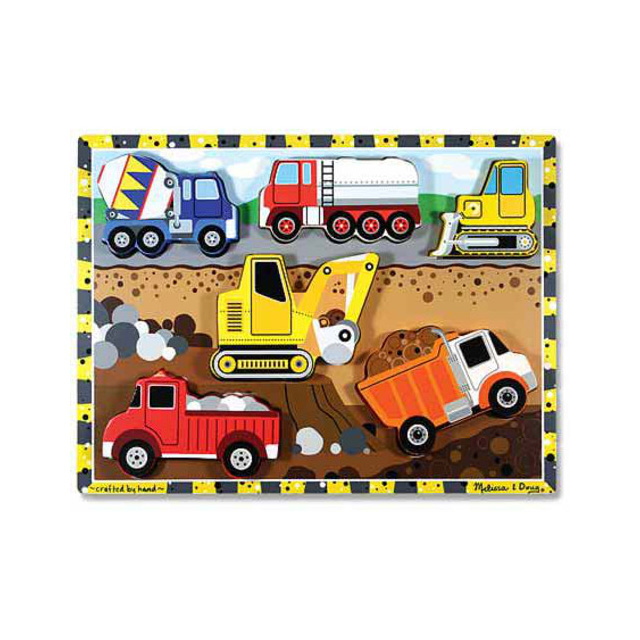 Melissa & Doug My First Chunky Construction 6 Piece Puzzle