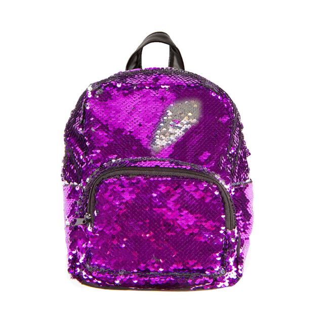Fashion Angels Magic Sequin Purple/Silver Mini Backpack