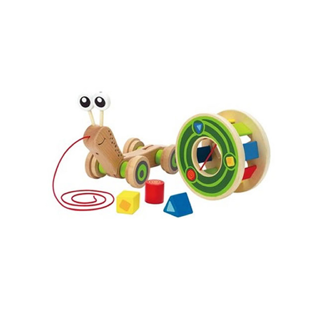 Hape Pull and Play Snail Shape Sorter