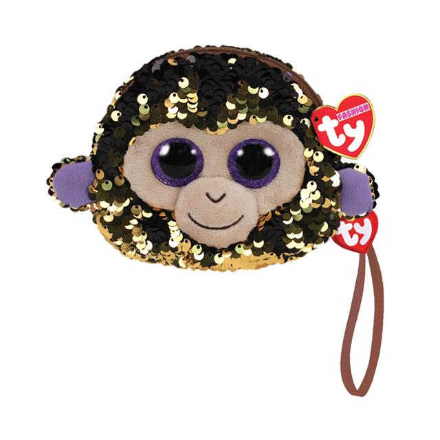 Ty Fashion Coconut the Monkey Sequin Wristlet