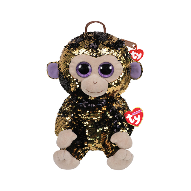 Ty Fashion Coconut the Monkey Sequin Backpack